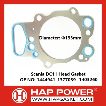 OEM manufacturer custom for Scania D8 / D9 / D11 / DS11 / D12 / D13 / D14 Head Gasket Scania DC11 Head Gasket 1444941 export to Tunisia Supplier