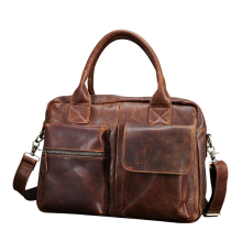 Travel PU Leather Tote Bag Handbag For Men