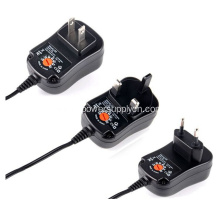 12V2.5A Interchangeable Plug Wall Mount Adapter