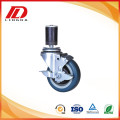 4 inch industrial caster with side brake