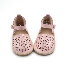 Kids Leather Shoes Girls Rubber Sole Shoes