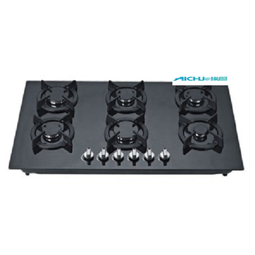 6 Burners Tempered Glass Top Selling Gas Cooker