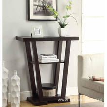Black Fancy Design Tall Slim Modern Console Table