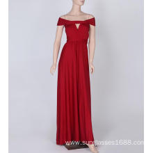 Leading Manufacturer for for Leave Casual Evening Dress Was Thin And No Ribs Ribbons Long Color Bridesmaid Dress supply to Liechtenstein Suppliers