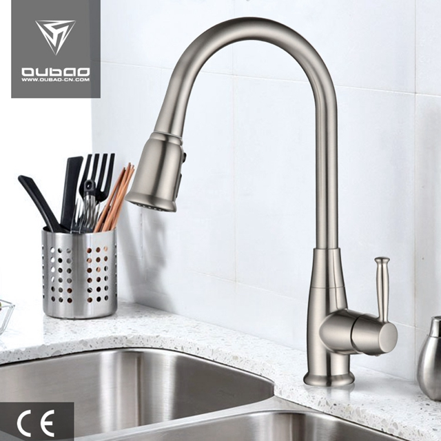 Modern Deck Mounted Polished Chrome Faucet Kitchen Taps