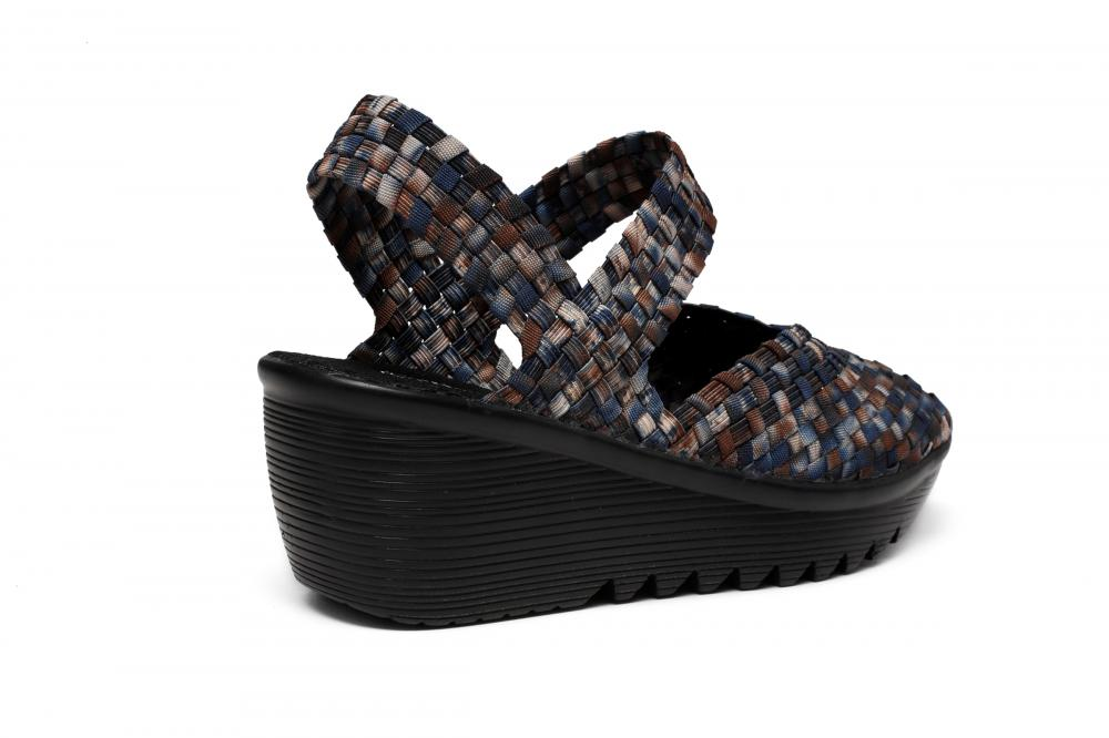 Wedge Heel Design Woven Sandals