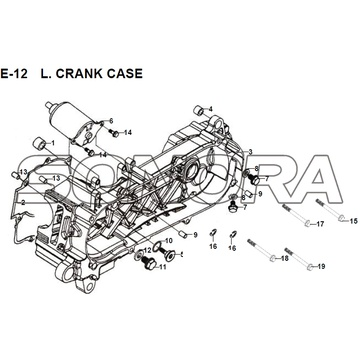 E-12 L. CRANK CASE JET 14 XS175T-2 For SYM Spare Part Top Quality