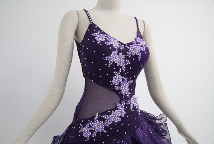 Purple Salsa Costumes For Competition