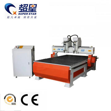 JINAN Cnc Router Wood Working With 2 Head