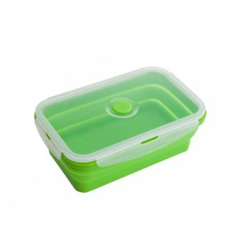 Quality Food Storager Silicone Folding Lunch Box