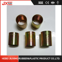 Factory directly supply for Hose Crimping Ends Carbon Steel Zinc Plated Hydraulic Hose Ferrules supply to France Manufacturer