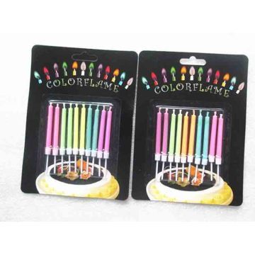 Color flame birthday cake candle firework