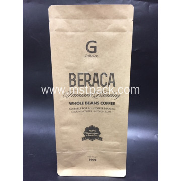 Kraft Paper Flat Bottom Box Coffee Bag