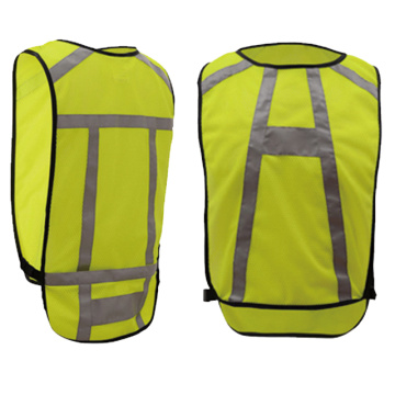 100% polyester mesh safety vest for running