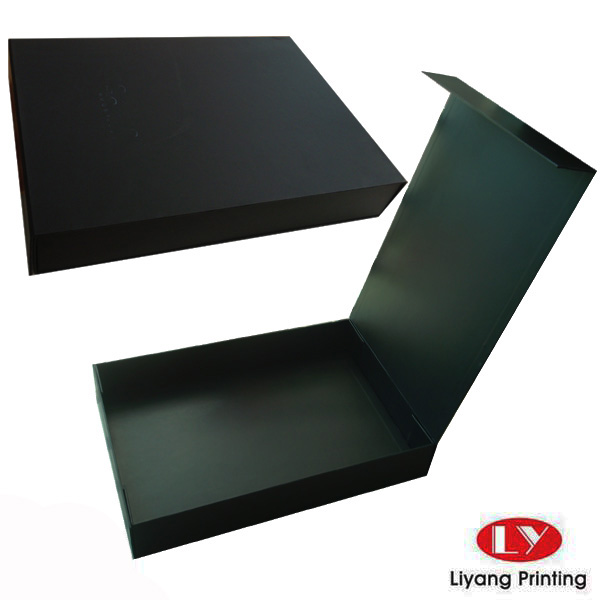 Fancy matte black cardboard packaging gift box