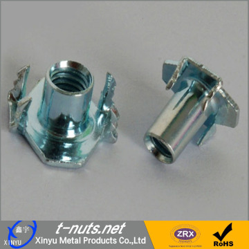 Stainless steel four claw T nuts