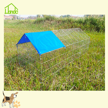 Outdoor Galvanized Chicken Cage Run With Cover