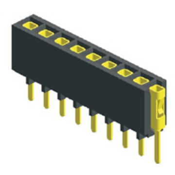 2.54mm Pitch Female Header Single Row Straight Connector