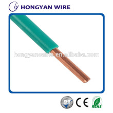 High quality PVC solid bare copper BV 6mm2 electrical cable for house wiring