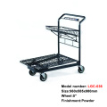 heavy duty platform hand shopping trolley