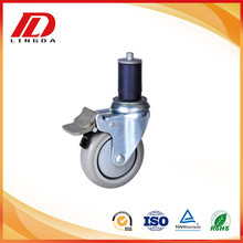 China Factories for Expanding Stem Casters 4 inch Expandable stem industrial caster export to Guam Supplier