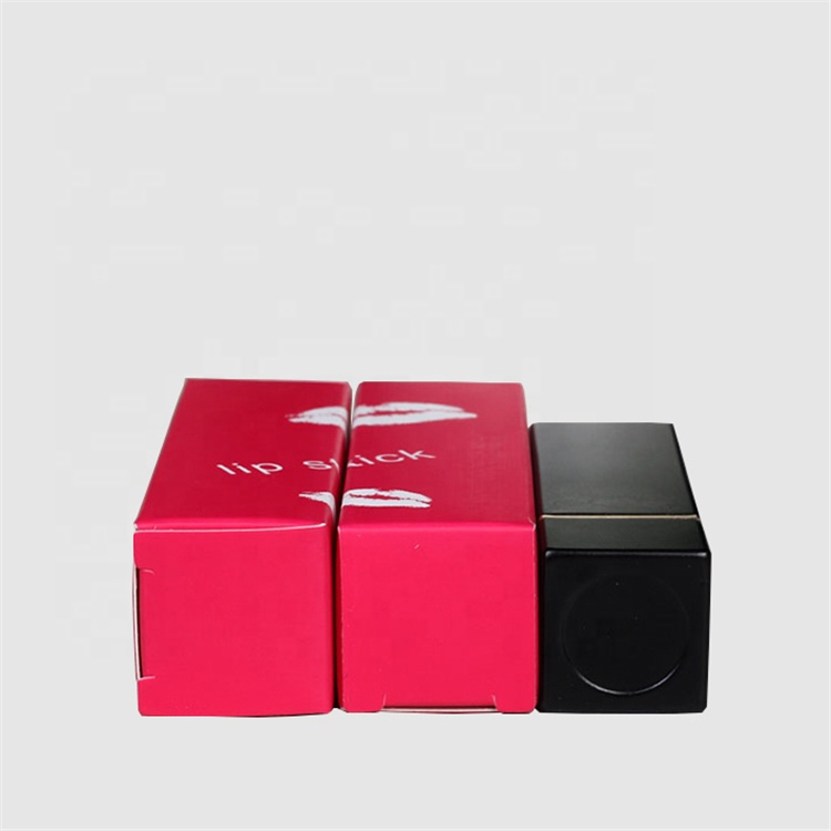 Reusable Red Coated Paper Lipstick Pack Box