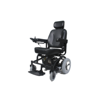 The 4-wheel suspension wheelchair