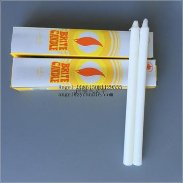 white stick church candle to LAE