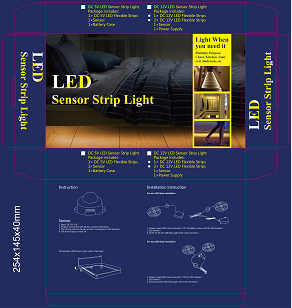 Double Bed LED Sensor Bed Light