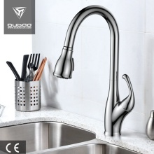 One-Handle Long Neck Pulldown Spray Kitchen Faucet Tap