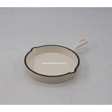 Enamel cast iron pan with panel