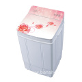 Flower Glass Cover 4KG Single Tub Washing Machine