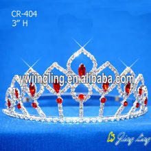 Red Ruby Color Wholesale Small Tiaras