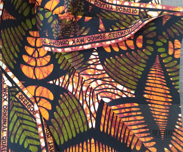 Cotton Wax Print Fabric For Garment