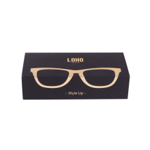 Eyewear Package Logo Design Black Packaging Box