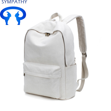 Custom vintage art cotton canvas backpack for students