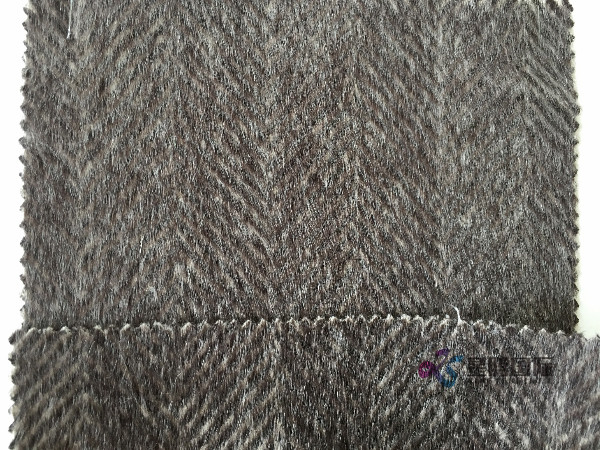 Herringbone Woolen Tweed Fabric For Winter Coat