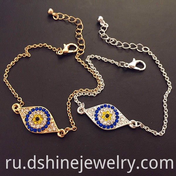 Jewelry Multicolor Evil Eye Bracelet