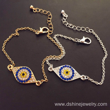 Jewelry Multicolor Evil Eye Adjustable Bracelet For Women
