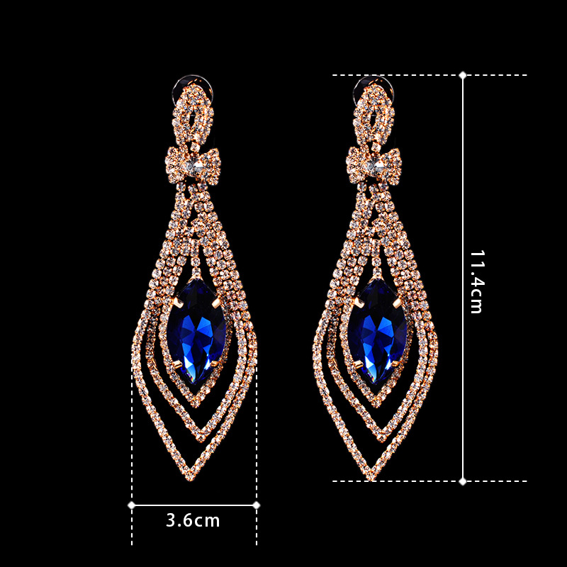 Dangle Crystal Earrings Rhinestone For Engagement