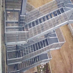 Steel Grating Fire Escape Stairs