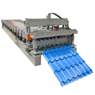 Glazed roof panel step tile forming machine