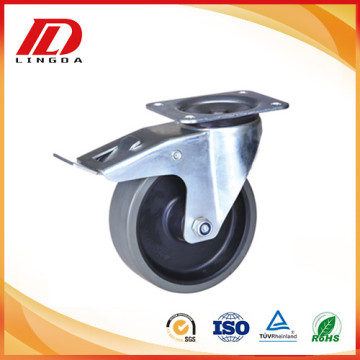 5 inch swivel caster with total brake