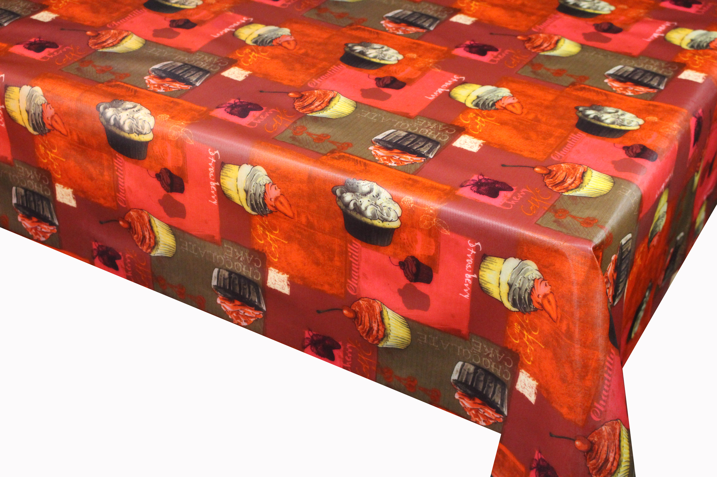 Cake Printed Tablecloth With Non Woven Backing