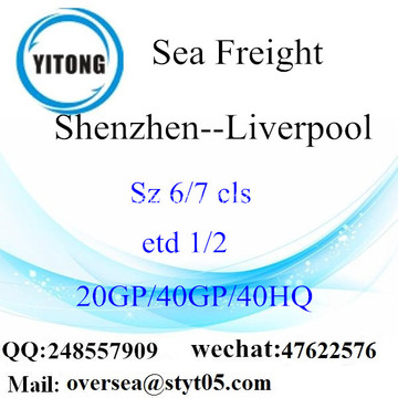 Shenzhen Port Sea Freight Shipping To Liverpool