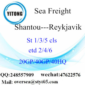 Shantou Port Sea Freight Shipping To Reykjavik