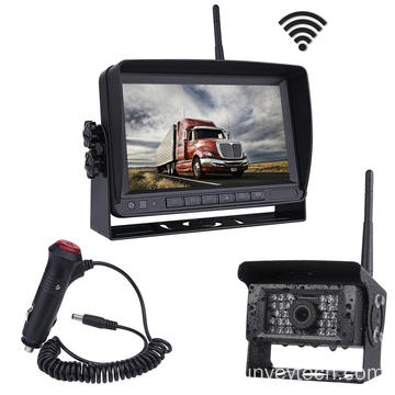 AHD Quad Screen Image Flip HD Display Night Vision Wirless Vehicle Rear View Camera and Monitor