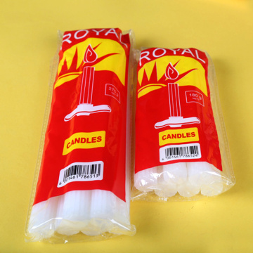 High Quality Paraffin White Sticks Fluted Candles