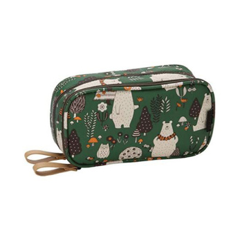 New Design Cute Animals Pattern Printed Outdoor Travel Felt Cosmetic Bag
