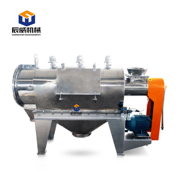 Horizontal centrifugal sifter used screen difficult powder